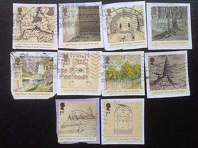 GB STAMPS 2004 Lord of The Rings / J R R Tolkien Used On Paper Set