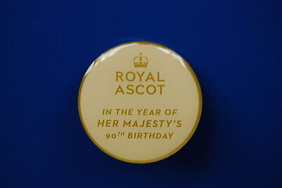 2016 ROYAL ASCOT Commemorative Badge - Her Majesty the Queen's 90th Birthday