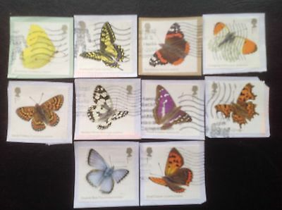 GB Stamps  2013 Butterflies Full Set Fine Used. Multi Issue