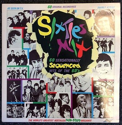 SIXTIES MIX SEQUENCED HITS OF THE 60s - DOUBLE LP VINYL - VARIOUS ARTISTS