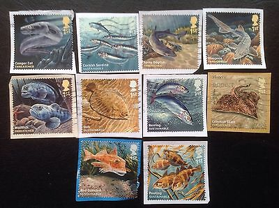 Gb Stamps Sg3609-18 [2014] Gb Sustainable Fish Very Fine Used Set