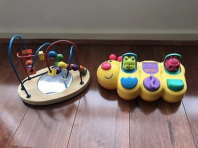 Baby Toddler Kids Wooden Around Beads And Fisher Price Educational Toy