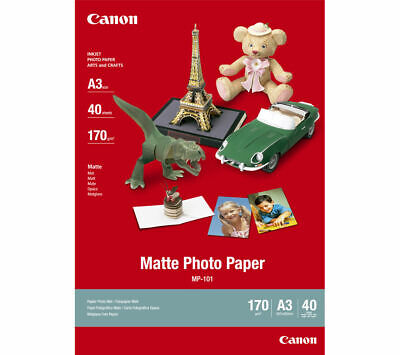 CANON A3 MP-101 Photo Paper 40 Sheets Matt photo paper 170 gsm 	Inkjet