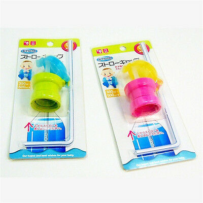 Silicone Straw Spill-proof Adult children Drink Bottle Spout Cover multi-colors