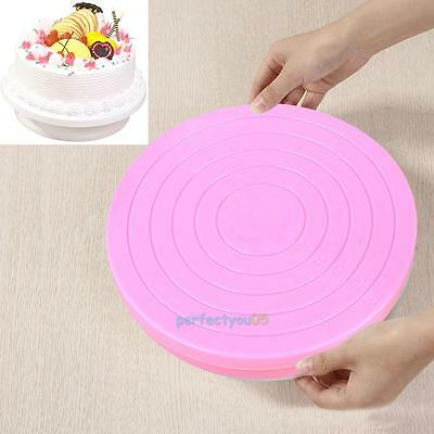 Small Cake Revolving Turntable Decorating Stand Platform Rotating Icing Tools