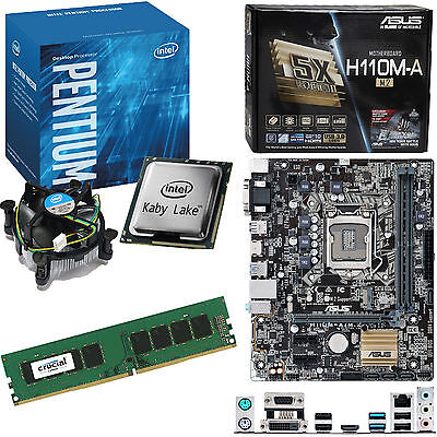 INTEL Pentium G4560 3.5Ghz, ASUS H110M-A/M.2 & 4GB 2133Mhz DDR4 RAM