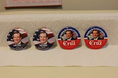2016 Ted Cruz Campaign Buttons, Set Of Four