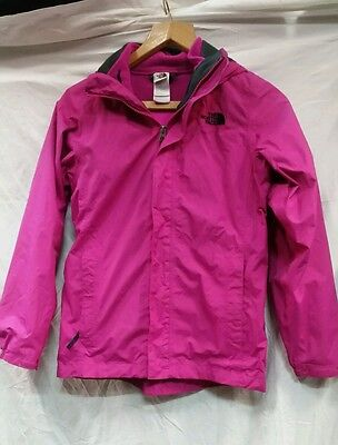 Girls The North Face Hyvent Waterproof Jacket With Fleece Lining Size L