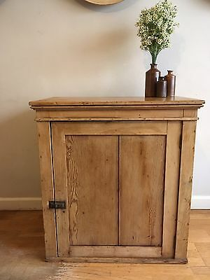 Antique Pine Kitchen Cupboard Cabinet, Pantry, Larder School Vintage Cupboard