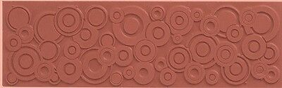 Circles Polymer Clay Molding Mat Texture Rubber Stamp