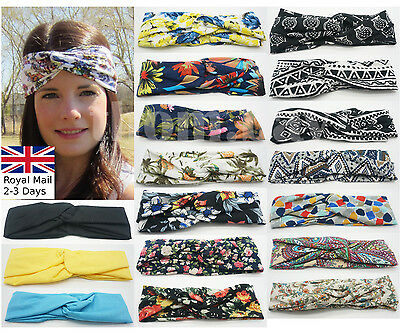 Women Girl Soft Turban Twist Headband Head Wrap Twisted Knotted Knot Hair Band
