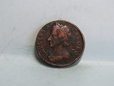 Charles Ii Copper Farthing Coin Dated 1675 (1)