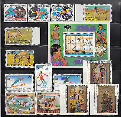Chad 1972 -1979 Collection all mint never hinged