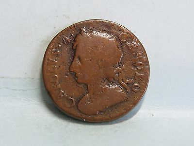 Charles Ii Copper Farthing Coin Dated 1675 (2)