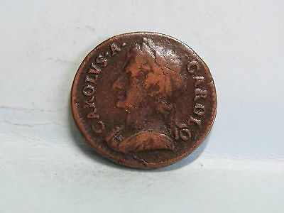 Charles Ii Copper Farthing Coin Dated 1674
