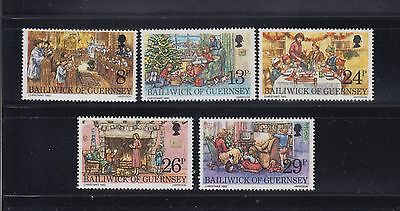 Great Britain Guernsey1982 Christmas Sc 250-254 cplte MNH