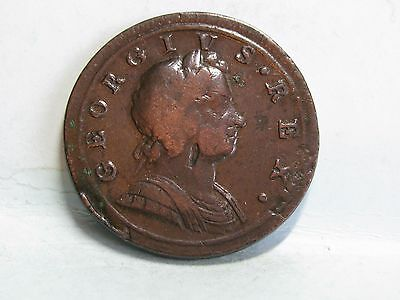 George I Copper Halfpenny  Coin Dated 1721