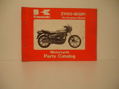 Kawasaki  Z1100-B1 B2  1981 Parts List Parts Catalogue De Pieces Detachees