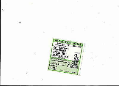 Ticket Wakefield v Widnes Rugby League Challenge Cup Final 5/5/1979 Ticket