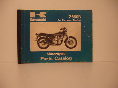 Kawasaki  Z 650 B 1977 Catalogue Pieces Detachees Parts List Lista Piezas