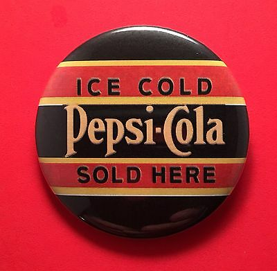"Ice Cold Pepsi Cola Sold Here 2 1/4"" Pinback Button"