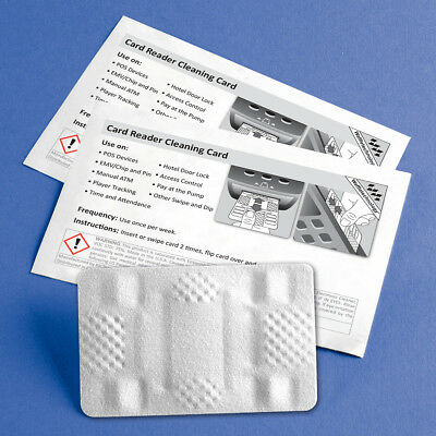 Credit Card Head Reader Cleaner - 10 Pack for ATM POS