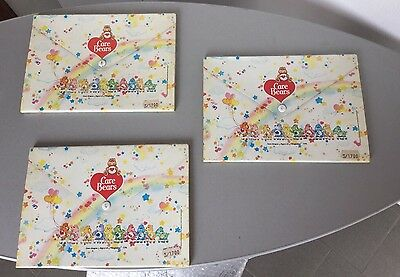 1983# 3X  American Greetings Care Bears Orsetti Del Cuore Cartelline Folders