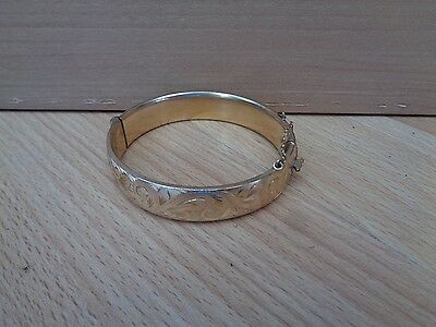 Georg Jensen Rolled Gold Bangle - 1950s Stamped 1/5 9ct