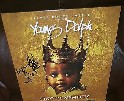 YOUNG DOLPH signed auto KING OF MEMPHIS RSD Vinyl LP Proof Limited Edition /1000