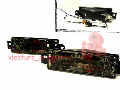 BMW 3  E30 1987 - 1994 Side Indicator Turn Signal Lights Black Tuning Set DEPO
