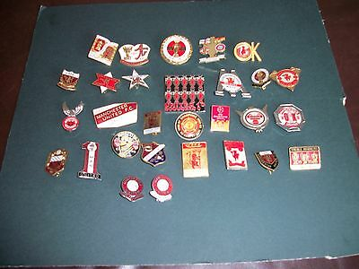 29 Manchester United Football Enamel Badges Will Sell Single