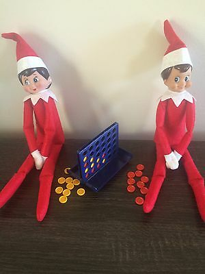 Elf Doll Props Can Sit On The Shelf Connect 4 Game