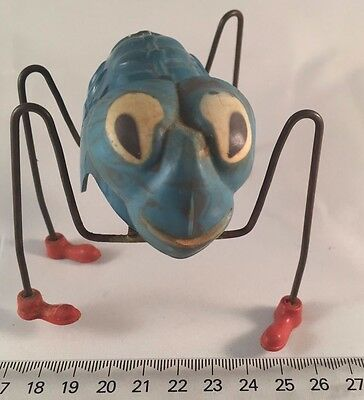 VINTAGE 1950s TRIANG MINIC WIND-UP TOY GREAT SPIDER RARE BLUE WORKING ORDER