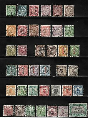 Collection Of China Stamps Used - Various Overprints Blue / Red / Black
