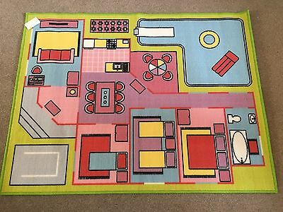 Dolls House Princess Children's Play Rug. Nursery, Playroom, Bedroom
