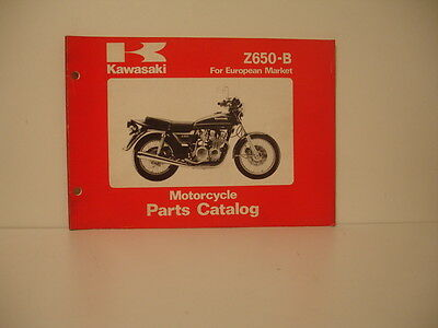Kawasaki  Z 650 B Annee1978 Parts Catalogue Pieces Detachees Lista Piezas