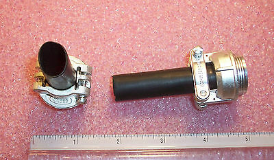 Qty (4) Ms3057-10A Crown Cable Clamps  & Rubber Bushings Nos