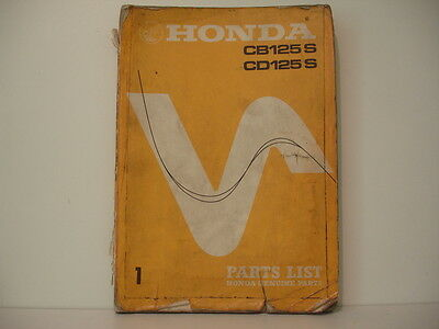 Honda Cb125S Cd125S Parts List Catalogue Pieces Detachees Lista Piezas