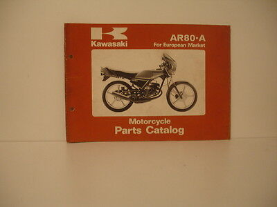 Kawasaki  Ar80-A  Parts List Catalogue Pieces Lista Piezas