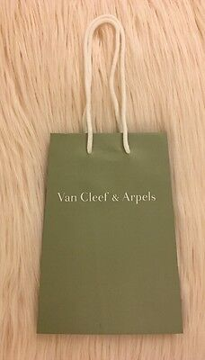 Authentic New Van Cleef & Arpels Small Satin Finish Shopping Gift Bag