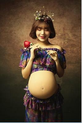 Princess Floral Dress Pregnant Women Photography Props Clothing Maternity Dresse
