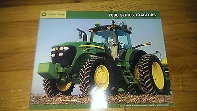 John Deere 7030 Series Tractor Sales Brochure Pamphlet Booklet Advertising