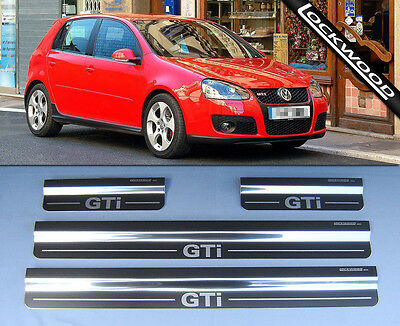 VW Golf GTi Mk5 4 door Stainless Kick Plates Sill Protector Trims