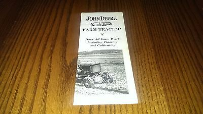 Vintage John Deere General Purpose Farm Tractor Brochure Pamphlet Farming Book