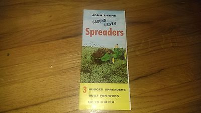 1956 John Deere JD Ground Driven Spreaders Tractor Sales Brochure Pamphlet