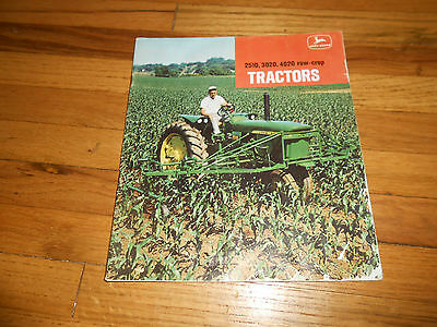 Vintage 1966 John Deere Tractor Brochure Models 2510 3020 4020 Row Crop CATALOG