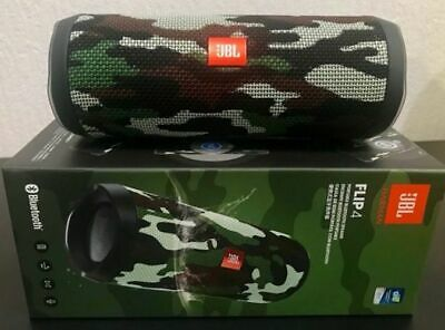 JBL JBLFLIP4SQUADAM Flip 4 Wireless Portable Stereo Speaker, Camouflage