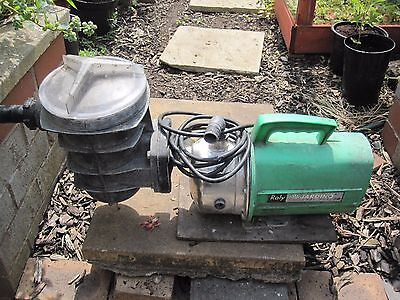 pool cleaning pump and 186 inch extended brush