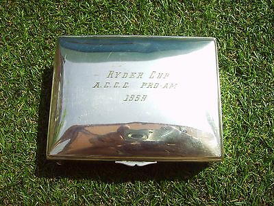 1959 ryder cup a.c.c.c pro-am silver plated german ciggerette/trinket box
