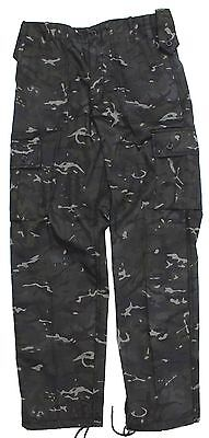 BRITISH ARMY STYLE SPECIAL FORCES COMBAT TROUSERS in BTP BLACK CAMO
